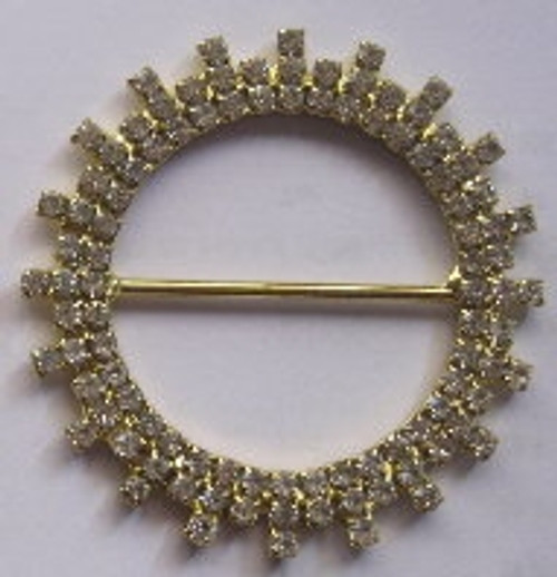 Triple Star 3 Row Gold Rings 50mm