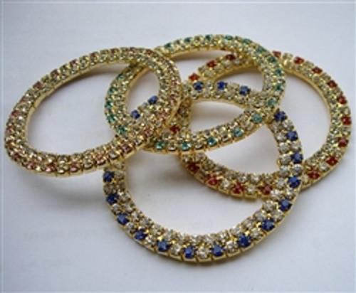 Alternate 50mm 2 Row Coloured Rings