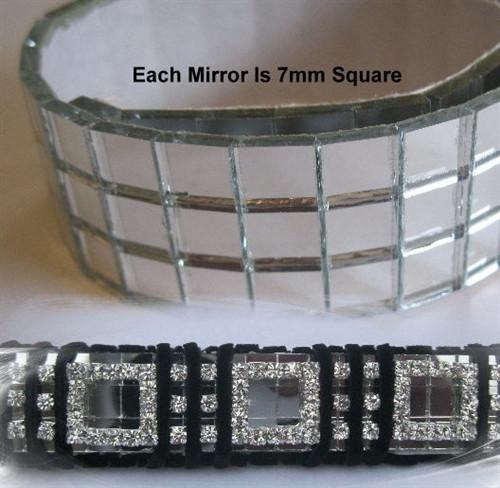 3 row glass mirrors