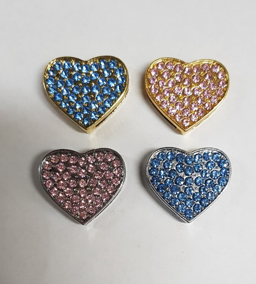 18mm Slide Charm Coloured Hearts