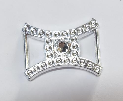 Acrylic Silver Diamond Slider 18mm