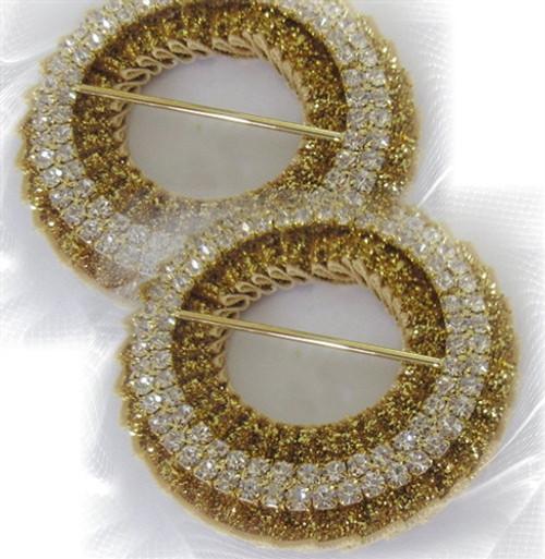 Premade Circles Metallic Velvet Outside 50mm