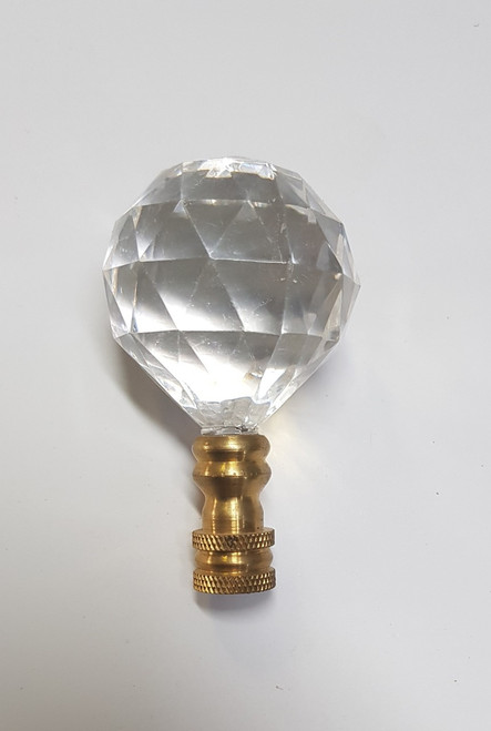 Cane Tops Clear Gold Glass 40mm