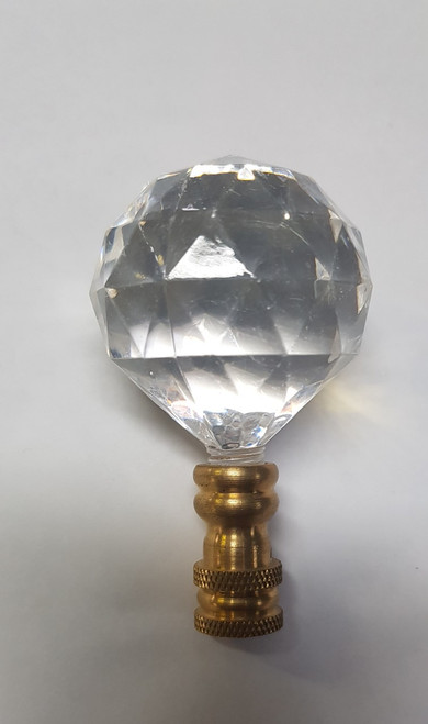 Cane Tops Clear Gold Glass 20mm