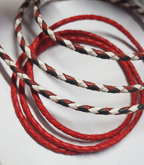 Bolo, plaited round leather