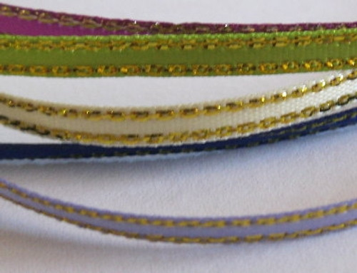 3mm Gold Edged Satin Colours