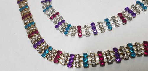 3 Row Kaleidoscope Lollie Chain