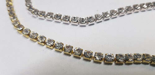 1 Row Gold or Silver Close set Chain