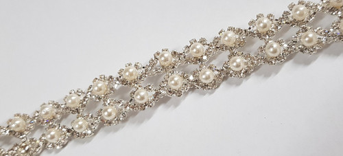 Pearl Double Chain Silver 23mm