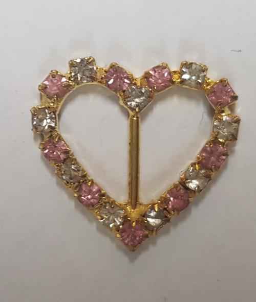 Teeny Heart 12mm Slider Ring Pink Gold