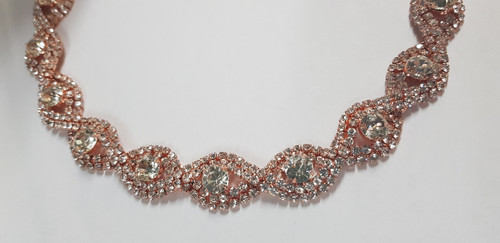 Rose Gold Oval Loop Chain