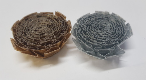 Smooth Metallic Carnations 50mm Gold or Silver