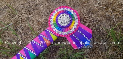 Kaleidoscope Pink, Purple & Sharks Teeth Browband