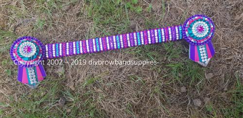 Kaleidoscope Pink, Purple & Teal Browband
