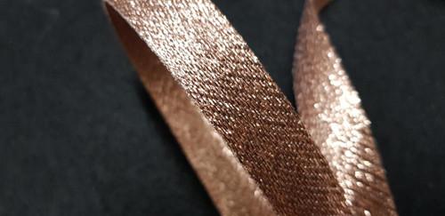Rose Gold 15mm Purl Metallic Ribbon