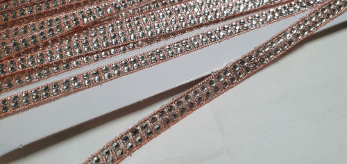 Diamante Ribbon Rose Gold 2 Row
