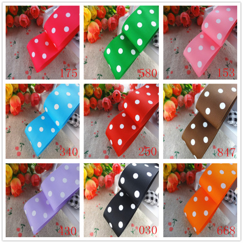38mm Gingham Spotted Ribbon x 50cm
