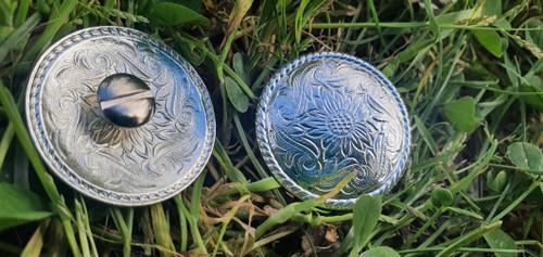 30mm Silver Conchos