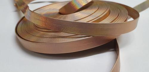 Rose Gold 12mm Leather Like Metallic Ribbon x 50mm