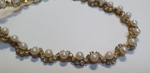 Gold Pearl 1 Row Chain 10mm x 10cm