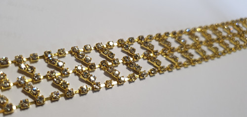 Angle Weave Gold 23mm x 10cm