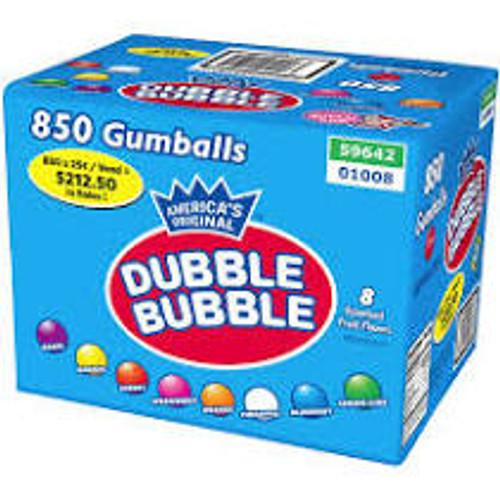 """Bulk Dubble Bubble Gumballs 1"""" 850 Count"""