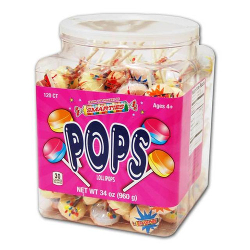 Smarties Pops Wrapped Jar 120 Count