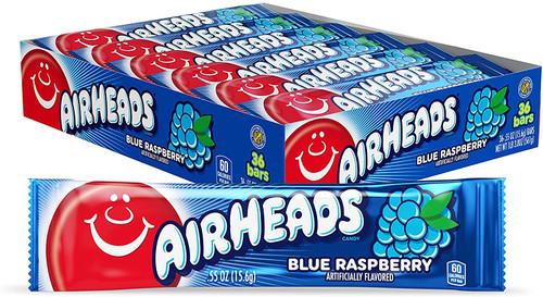 Airheads Blue Raspberry Singles 0.55 Ounces 36 Count