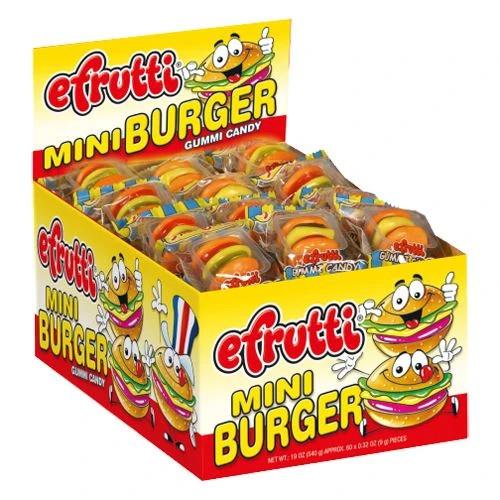 Mini Gummi Burgers .35 Ounce 60 Count
