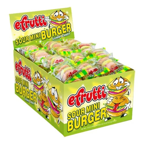 Mini Gummi Burgers Sour 60 Count