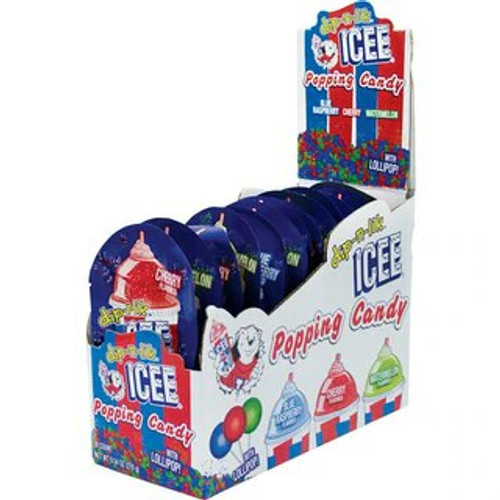 Icee Popping Candy With Lollipops 0.52 Ounce 18 Count