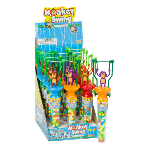 Monkey Swing Toy With Candy 0.46 Ounces 12 Count