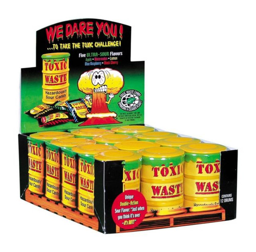 Toxic Waste Drums Assorted 1.7 Ounce 12 Count