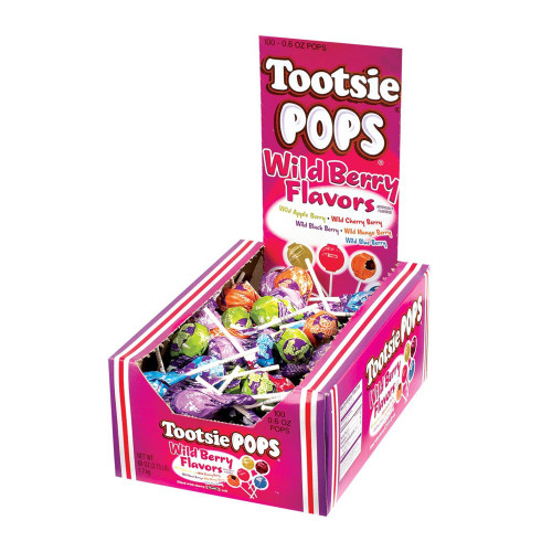 Tootsie Roll Pops Wild Berry 100 Count