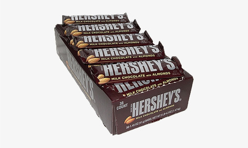 Hershey's Chocolate w/Almonds Candy Bar Countgood 36 Count
