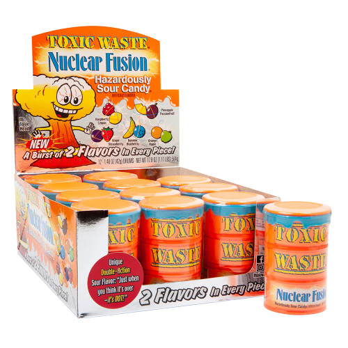 Toxic Waste Nuclear Fusion Drum Asst 1.48 Ounce 12 Count