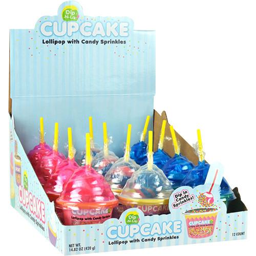 Cupcake Dip-N-Lik 1.23 Ounces 12 Count