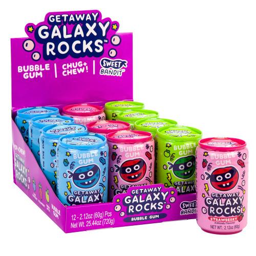 Galaxy Rocks Bubble Gum 2.12 Ounces 12 Count
