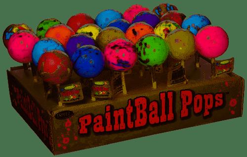 Paintball Jawbreaker Pop Display 2.3 Ounces 24 Count