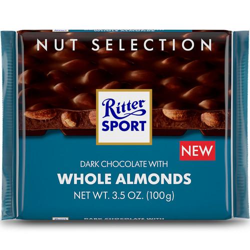 Ritter Sport Dark w/Almonds 3.5 Ounce 12 Count