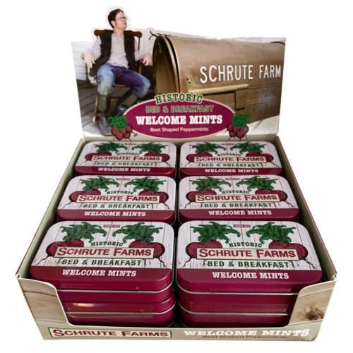 Schrute Farms Mint Tins 1.5 Ounces 18 Count
