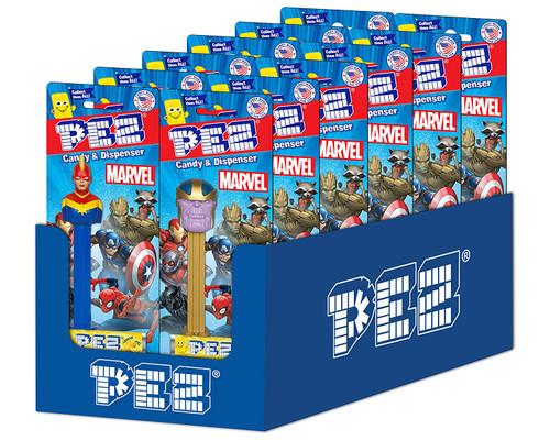 Pez Marvel Eternals Assortment 0.87 Ounces 12 Count Blister Card