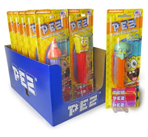 Pez SpongeBob Assortment 0.87 Ounces 12 Count Blister Card