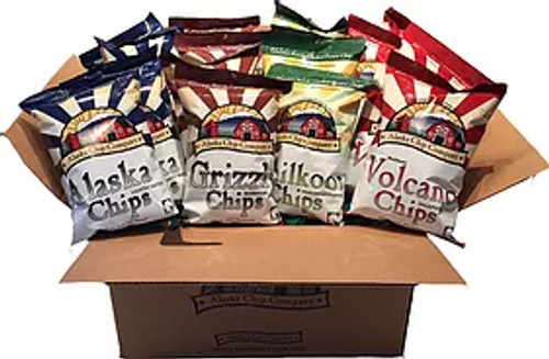 Chips 1oz 72ct Variety Pack 18 Each Flavor: Alaska, Grizzly, Volcano, & Chilkoot