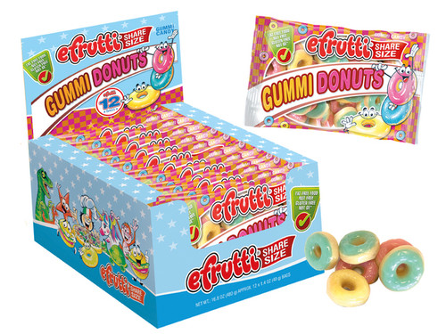 Gummi Donuts Share Size Peg Bag 1.40 Ounce 12 Count