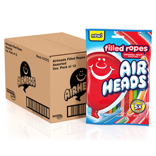 Airheads Filled Ropes 5 Ounce 12 Count Peg Bag