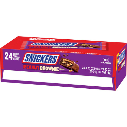 Snickers Peanut Brownie Countgood 1.2 Ounce 24 Count