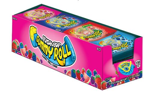 Push Pop Gummy Roll 1.4 Ounce 8 Count