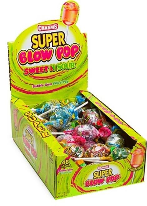 Super Blow Pops Sweet & Sour 48 Count