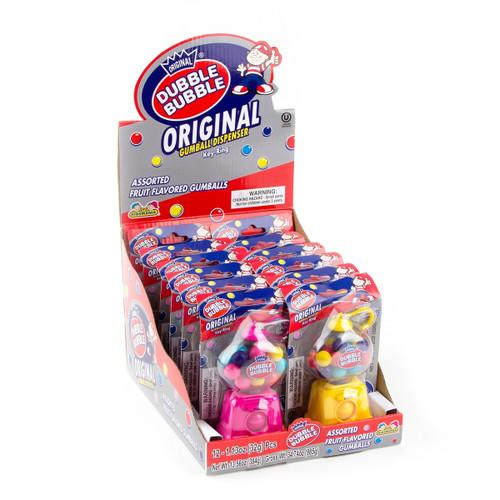 Dubble Bubble Gum Dispenser Keyring 0.48 Ounces 12 Count